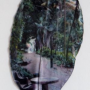 Lisszabon, Jardim Da Estrela 2. , Művészet, Fotográfia, Fotó, grafika, rajz, illusztráció, Fikusz levelére, fotóeljárással készített kép Jarim Botanico Tropical kertről. A negatív 2015-ös, a ..., Meska