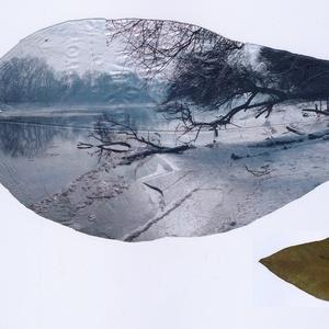 Jeges Duna, Szentendre, 2013 - azonosítatlan levélen 2020, Művészet, Fotográfia, Fotó, grafika, rajz, illusztráció, A 8x19 cm méretű, azonosítatlan fajta levelet egy ismerősömtől kaptam még 2018-ban, hogy nyomtassak ..., Meska