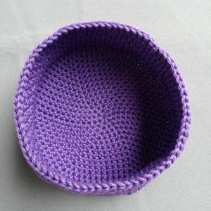 Horgolt kosárka (lila) (hamibatyu) - Meska.hu