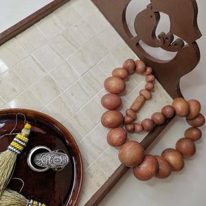 Barna csokibarna beige bézs madár mozaik tálca kávé tea kínáló, Otthon & lakás, Konyhafelszerelés, Tálca, Lakberendezés, Asztaldísz, Elegáns és kedves kínáló tálca - visszafogott egyszerű bézs márványmozaikok teszik kellemessé. Jázmi..., Meska