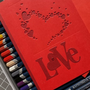 Virágzó szív - Love - piros bordó képeslap, üdvözlőlap, ajándékkísérő : HMB2103_105 - Meska.hu