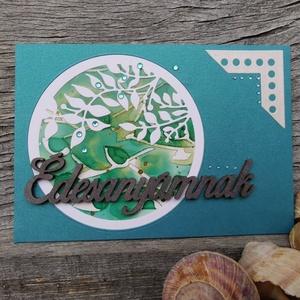 Anyák Napjára egyedi festett hátteres strasszos képeslap - Édesanyának : HMB2104_029 - Meska.hu