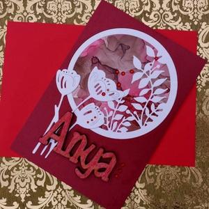 Anyák Napja egyedi festett hátteres strasszos elegáns képeslap - Anyának : HMB2104_038 - Meska.hu