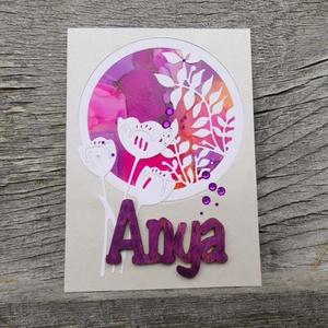 Anyák Napja egyedi festett hátteres strasszos elegáns képeslap - Anyának : HMB2104_040, Otthon & Lakás, Papír írószer, Képeslap & Levélpapír, Papírművészet, Standard méretű kinyítható üdvözlőlap  16 x 11cm-es hozzáíllő síznes borítékkal. Használható mint k..., Meska