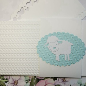 Babaszületés - keresztelő - pénz-, ajándékutalvány átadó boríték - ajándékátadó kártyával - bárány : HMB2106_41 - otthon & lakás - papír írószer - képeslap & levélpapír - Meska.hu
