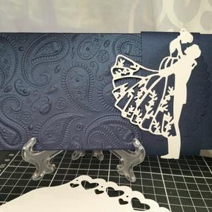 Metálkék gyöngyházfényes pénzátadó boríték 3D dombormintával - üzenőkártyával : HMB2106_54, Esküvő, Emlék & Ajándék, Nászajándék, Mérete:  22 x10.5 cm  Pénzajándékodat, vagy az ajándékkísérő üzeneted helyezheted el ebbe a minőségi..., Meska