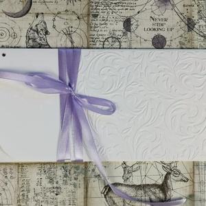 Pénzátadó boríték, Nászajándék, Pénz átadó lap, Gratulálunk képeslap, Esküvői Gratuláció : HMB2107_48, Esküvő, Emlék & Ajándék, Nászajándék, Papírművészet, Meska