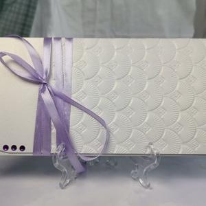 Romantikus dombormintás pénzátadó boríték, Nászajándék, Gratulálunk boríték, Esküvői Gratuláció : HMB2107_65, Esküvő, Emlék & Ajándék, Nászajándék, Mérete:  21 x10.5 cm  Pénzajándékodat, vagy az ajándékkísérő üzeneted helyezheted el ebbe a minőségi..., Meska