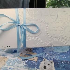 Gyöngyházfényes dombormintás pénzátadó boríték, Babaszületés, Kéresztelő, Születésnap, Nászajándék, Esküvő : HMB2107_70, Játék & Gyerek, Babalátogató ajándékcsomag, Mérete:  21 x10.5 cm  Pénzajándékodat, vagy az ajándékkísérő üzeneted helyezheted el ebbe a minőségi..., Meska