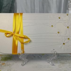 Pénzátadó boríték, dombormintás, Születésnap, Névnap, Nászajándék, Esküvő, Babaszületés, Kéresztelő,  : HMB2107_81 - Meska.hu