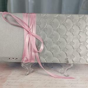 Pénzátadó boríték, Nászajándék, Esküvői Gratuláció, ezüst, pénz átadó lap: HMB2107_84, Esküvő, Emlék & Ajándék, Nászajándék, Mérete:  21 x10.5 cm  Pénzajándékodat, vagy az ajándékkísérő üzeneted helyezheted el ebbe a minőségi..., Meska