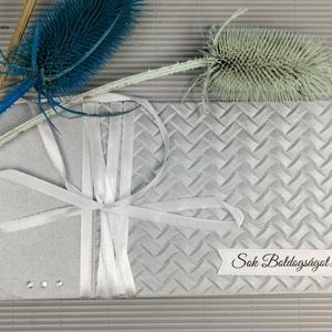 Pénzátadó boríték, Nászajándék, Gratulálunk képeslap, Esküvői Gratuláció, Felíratos: HMB2107_82_F, Esküvő, Emlék & Ajándék, Nászajándék, Papírművészet, Meska