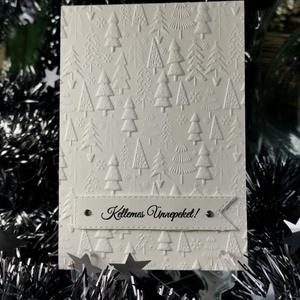 Karácsonyi üdvözlőlap elegáns kinyítható dombormintás képeslap, borítékkal  : HMB2110_49, Karácsony, Karácsonyi ajándékozás, Karácsonyi képeslap, üdvözlőlap, ajándékkísérő, Papírművészet, Meska