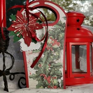 Karácsonyi ajándékátadó táska díszdoboz: HMB2110_99 - Meska.hu