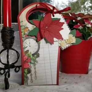 Karácsonyi ajándékátadó táska díszdoboz: HMB2110_100 - Meska.hu