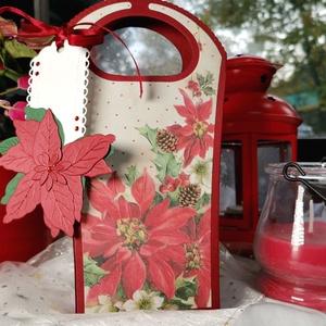 Karácsonyi ajándékátadó táska díszdoboz: HMB2110_101 - Meska.hu
