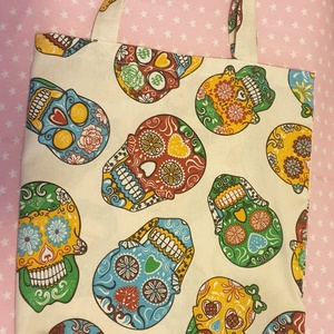 Calamera vibráló színekkel, pamutvászon táska., Táska, Divat & Szépség, Táska, Szatyor, Válltáska, oldaltáska, Varrás, Élénk színes calamera mexikói mintás, kézműves, bélelt pamutvászon táskák, belül zsebbel, 40 x 34 cm..., Meska