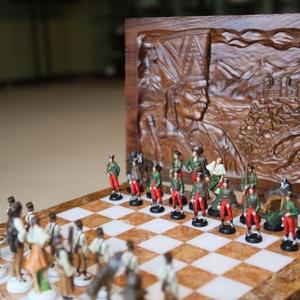 sakk készlet : Janosik Pewter Handmade Chess Sets - hand painted (HandmadeChessSets) - Meska.hu