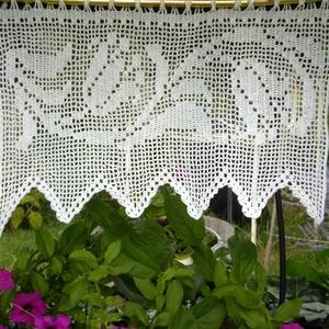 Lebegő tulipánok-Horgolt vitrázs,fehér függöny (HANDMAKE) - Meska.hu