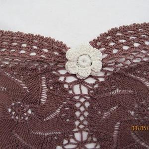 Vintage,zsebes,rózsás horgolt párna (HANDMAKE) - Meska.hu