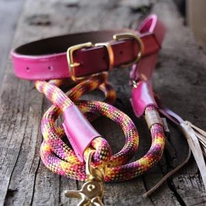 Crazy Color nyakörv póráz szett, Otthon & Lakás, Kisállatoknak, Kutyáknak, Bőrművesség, Rosie\'s Dog Coll-art NEW STYLE collekció\n\nEgy teljesen új style a Rosie\'s Dog coll-art termékeiből\nA..., Meska