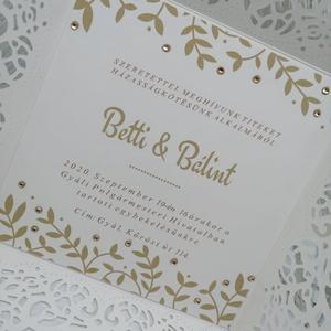 Esküvői meghívó, Meghívó, Meghívó & Kártya, Esküvő, Papírművészet, Esküvői meghívókat, felkérőket, ültetőket, szalvétagyűrűket, ajándék- és pénz átadókat készítek egye..., Meska