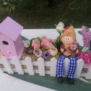 Pihenő, Kerti dísz, Ház & Kert, Otthon & Lakás, Virágkötés,  Egy kis kertészkedés után megérdemelt pihenő a kertben. Ki ne szeretne rendezett kertben nyugalmat...., Meska