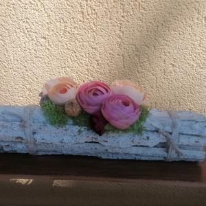 Farönk asztaldísz, Otthon & Lakás, Bútor, Virágkötés, Mindenmás, Ez a dekoráció, meghitt hangulatot varázsol  az otthonodba. Egy szelet természet. Asztaldísznek töké..., Meska