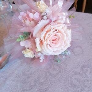 Menyasszonyi örök csokor, Esküvő, Menyasszonyi- és dobócsokor, Virágkötés, Mindenmás, Ez a különleges árnyalatú menyasszonyi örökcsokor   csak Rád vár . Egy hatalmas, gyönyörű rózsa, mel..., Meska