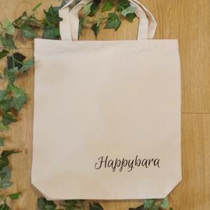 Szundizó hörcsögös erős vászontáska natúr, farmerszövésű anyagból, 1 db. Kézzel festett, mosható (Happybara) - Meska.hu