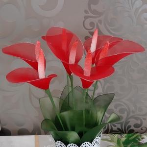 Kála, Csokor & Virágdísz, Dekoráció, Otthon & Lakás, Virágkötés, Virágot keresel amely nem hervad el?\nEz a csodás kála a legjobb választás számodra. \n7 szál csodaszé..., Meska