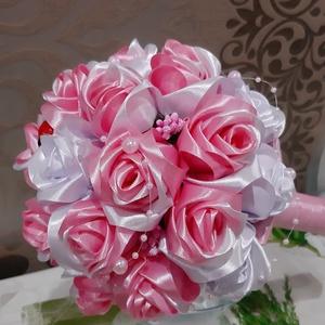 Csokor, Esküvő, Esküvői csokor, Otthon & lakás, Dekoráció, Csokor, Virágkötés, A ballagás egy nagyon meghatározó élmény,amit mindig próbálunk a legjobbá tenni.\nEz a gyönyörű csoko..., Meska
