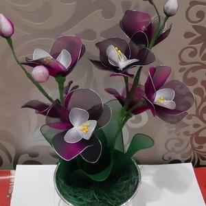 2 ágú orchidea , Csokor & Virágdísz, Dekoráció, Otthon & Lakás, Virágkötés, Az orchidea mindig elegáns virága lehet otthonodnak,mely sosem hervad el,nem kell locsolnod.\n2 ágon,..., Meska