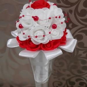 Minicsokor habrózsából , Esküvő, Menyasszonyi- és dobócsokor, Virágkötés, Ovis ballagásra vagy koszorúslány csokornak szeretnéd?\nTöbbféle színben is el tudom készíteni.\nEz pi..., Meska