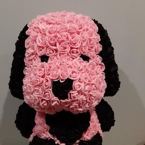 Habrózsa kutya, Csokor & Virágdísz, Dekoráció, Otthon & Lakás, Mindenmás, Imádja a kutyákat meg a virágokat is?Egyesítsd őket egy csodaszép,csodacuki,615 darabból álló,habróz..., Meska