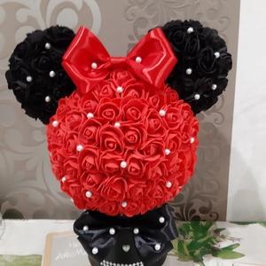 Minnie egér habrózsából, Otthon & Lakás, Dekoráció, Csokor & Virágdísz, Mindenmás, Kedvenced a Minnie egér?\nEzt egész évben csodálhatod,és még a virág sem hervad el.\nTöbb mint 200 db ..., Meska