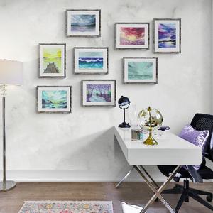 Esztétikus tájkép kollekció 8 darabos galéria fal szett, Otthon & Lakás, Dekoráció, Kép & Falikép, Újrahasznosított alapanyagból készült termékek, Festészet, Inspiráló ART PRINT kollekció, fehér, matt minőségi kézműves papíron (Via  Linen pure white 270 gr)...., Meska