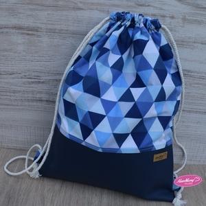 Gymbag hátizsák, Gymbag, Hátizsák, Táska & Tok, Varrás,  33x43cm méretű, 2 rétegű hátizsák, tornazsák. Külseje textilbőr és  designer vászon kombináció, bel..., Meska
