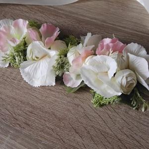 Esküvőre fejdísz deréköv koszorúslányoknak menyasszonynak, Esküvő, Kiegészítők, Öv & Pánt, Mindenmás, Virágkötés, Szeretnéd, ha az esküvődön a kis koszorúslányaid tündérkéknek éreznék magukat?! Lepd meg őket egy gy..., Meska