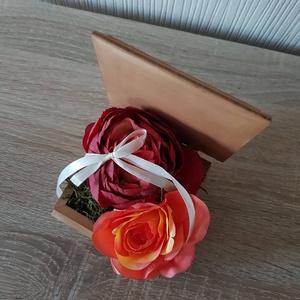 Gyűrűtartó doboz esküvőre - esküvő - kiegészítők - gyűrűtartó & gyűrűpárna - Meska.hu