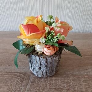 Természetes virágos asztaldekoráció, Otthon & Lakás, Dekoráció, Asztaldísz, Virágkötés, Mindenmás, Meska