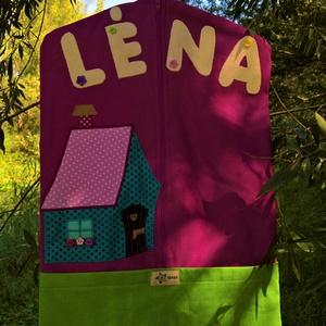 Léna- Ovis zsák, Ovis zsák, Ovis zsák & Ovis szett, Játék & Gyerek, Varrás, A képen látható ovis zsák twill vászonból készült. Kérésre varrtam rá a gyermek nevét és a jelét is...., Meska