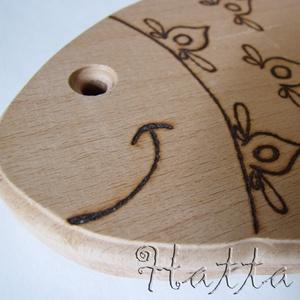 APPLE - alma alakú vágódeszka (Hatta) - Meska.hu