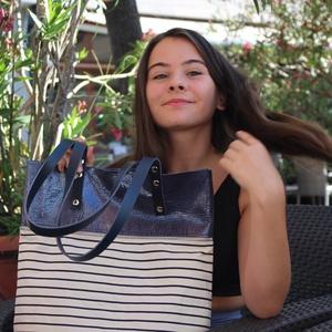 Mobile bag  2 részes táska oldaltáska sötétkéklakk-csíkosalj (hegymegigabi) - Meska.hu