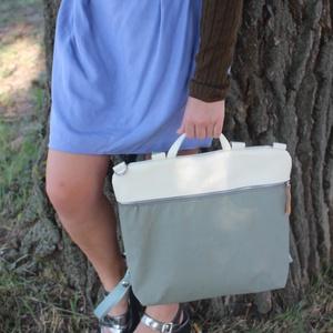 Mobile bag 2 részes táska hátizsákos résszel beige-khakizöld alj (hegymegigabi) - Meska.hu