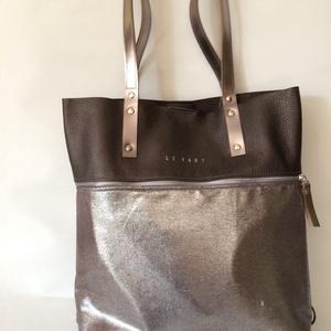 Mobile bag 2 részes táska oldaltáska  iron-ezüstös alj (hegymegigabi) - Meska.hu