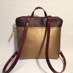 Mobile bag 2 részes hátitáska bordó-óarany (hegymegigabi) - Meska.hu