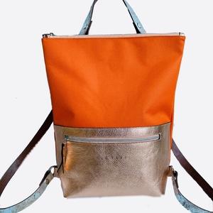 Tekla\'s bag hátitáska narancs-narancsosarany, Táska, Táska, Divat & Szépség, Hátizsák, Bőrművesség, Varrás, TEKLA\'s hátitáska.\n\nCordura és marhabőr felhasználásával készült.\nmérete: \nszélesség: 33 cm, alul 24..., Meska