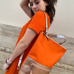 Tekla's bag hátitáska narancs-narancsosarany (hegymegigabi) - Meska.hu