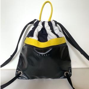 Gym-bag fekete textilbőr-fekete/ezüst marhabőr (hegymegigabi) - Meska.hu